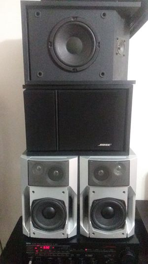 4 Speakers + receiver + Aux cord for Sale in Tampa, FL