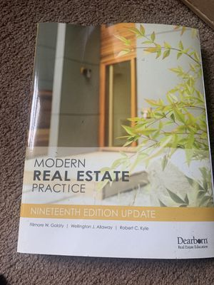 Modern Real Estate Practice 19th Edition for Sale in East Haven, CT