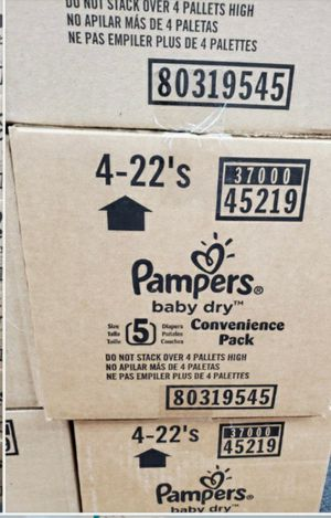 Pampers Size 5 for Sale in Las Vegas, NV