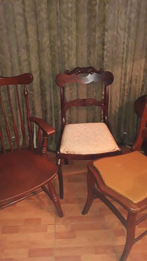 3 Vintage Antique wooden chairs for Sale in Lighthouse Point, FL