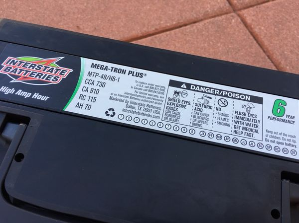 Brand New Interstate Battery Mtp 48 H6 Mega Tron Plus 6 Years
