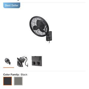 Home Decorators Collection Bentley II 18 in. Indoor/Outdoor Natural Iron Oscillating Wall Fan for Sale in Houston, TX