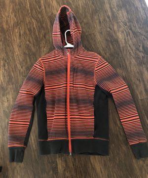 Lululemon hoodie / jacket orange and gray size medium for Sale in Dublin, OH