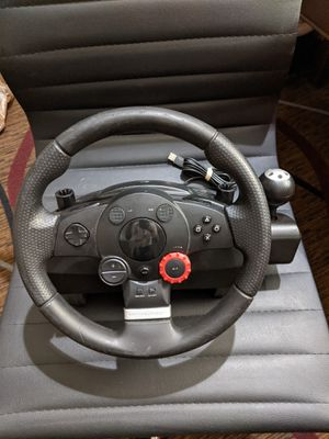 Logitech Driving Force GT Wheel & Pedal Set E-X5C19 PC PS2 PS3 PlayStation (AS IS) for Sale in Chicago, IL