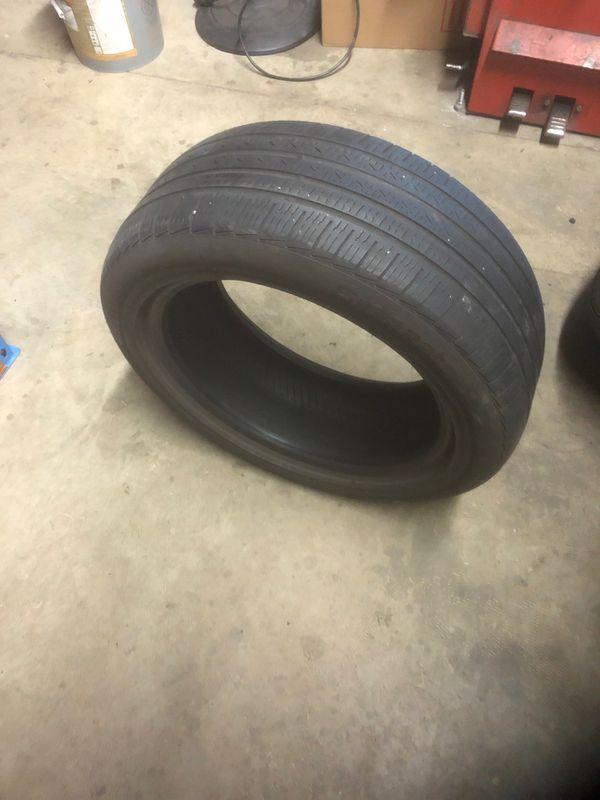 Single tire 225/50/17 Pirelli 70% tread