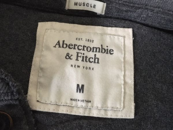 Mens Abercrombie & Fitch casual sweater shirt Size Medium