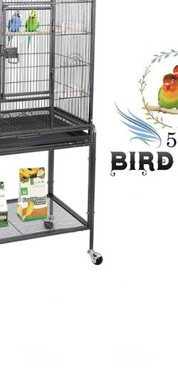 53-Inch Bird Cage with Stand Made From Wrought Iron for Sale in Whittier,  CA