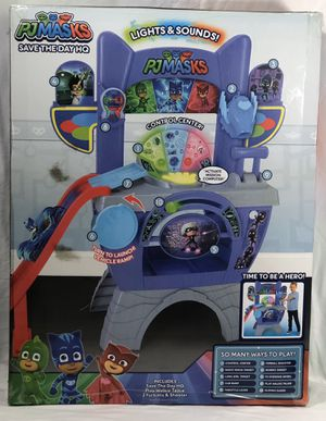 PJ Masks Save the Day HQ Pretend Playset For Kids w/furball shooter for Sale in Spring, TX