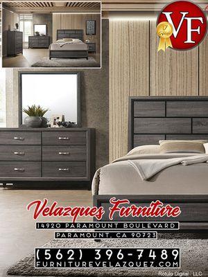 **BIG SALE** CONTEMPORARY QUEEN BED+NIGHTSTAND+DRESSER+MIRROR (mattress not included) $548 for Sale in Redondo Beach, CA