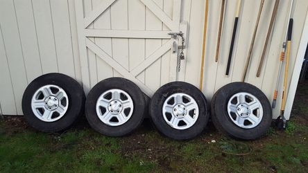Jeep Wheels and Tires (4) for Sale in Tacoma,  WA