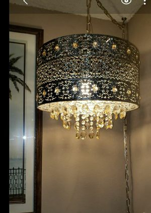 Pier1 Bohemian hanging chandelier lamp / light swag for Sale in Renton, WA