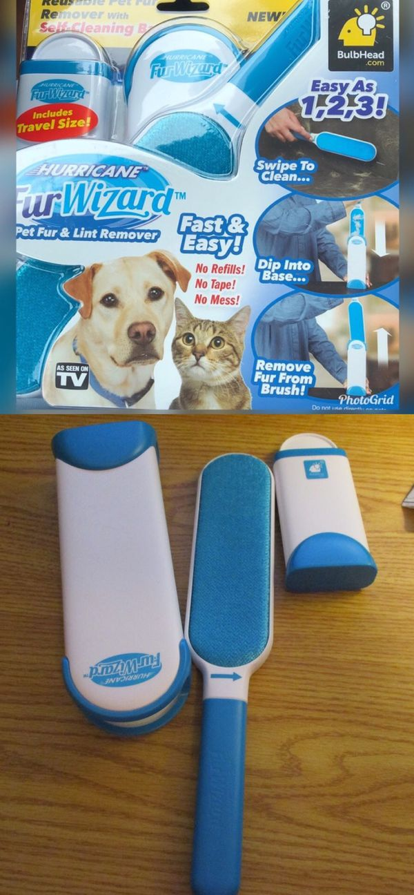 NEW As Seen On TV Hurricane Fur Wizard Hair Remove Clothing Lint Fur Remover Dog Cat Pet Hair