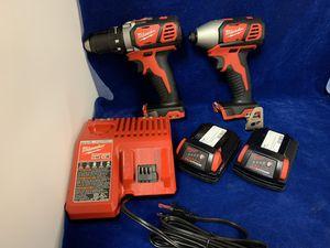 Milwaukee M18 Li-Ion 18V Drill Driver Kit w/2 Batt & Charger for Sale in Marietta, GA
