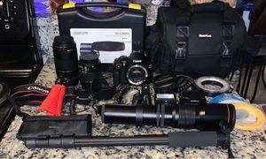 Canon Rebel T6 + Attachments, Bags and cases for Sale in Champaign, IL
