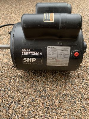 Craftsman 5 HP Air Compressor Motor for Sale in Anaheim, CA