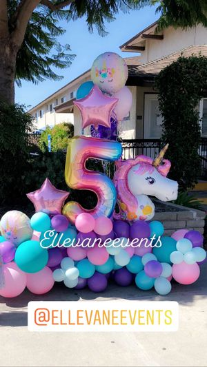 Balloons bouquet cheer HBD numbers for Sale in Garden Grove, CA