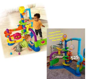 FISHER PRICE CRUISE N GROOVE LEARNING TOY DANCING LIGHTS BALL MAZE ACTIVITY COURSE BOY OR GIRL BABY TODDLER TOY for Sale in San Antonio, TX