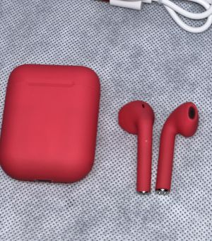 New Matte Red Bluetooth EarPods (delivery Available) for Sale in Aurora, CO
