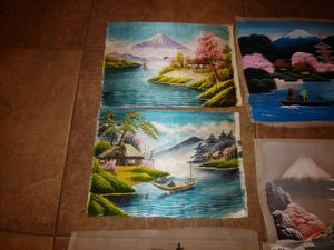 Vintage japanese silk thread and water color art for Sale in Chandler, AZ