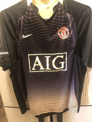 Manchester United Nike Aon Black Dri-Fit Soccer Football Jersey Size SMALL for Sale in Seattle, WA