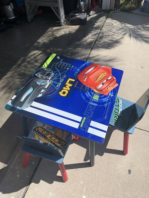 Cars table in great condition was always kept in play room for Sale in Corona, CA
