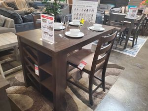 5 PC Counter Height Dining Set, Brown for Sale in Huntington Beach, CA