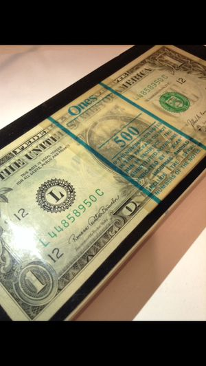 Highly Unusual $1 Bills Set Encased Within a Crystalized Glass Case- Rare Collectible Currency Item- Crisp Uncirculated Bills- Errors, Star Notes, Et for Sale in Fairfax, VA