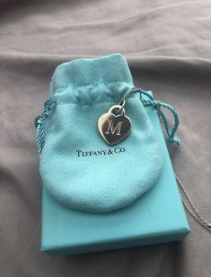 """Sterling Silver Tiffany & Co. """"M"""" Letter Necklace for Sale in Mesa, AZ"""