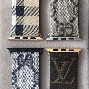 Authentic Louis Vuitton Gucci Burberry Canvas Apple Watch Band Strap Handmade from Bag for Sale in Los Angeles, CA