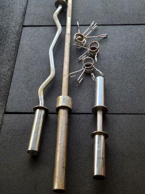 Olympic barbell curl dumbell set for Sale in Wesley Chapel, FL