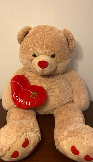 45 inches Extra Large Heart Teddy Bear Plush for Sale in Austin, TX