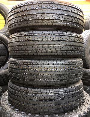 Set of 205 75 14 Crown STR Trailer Tires Excellent Condition Installation for Sale in Glendale, AZ