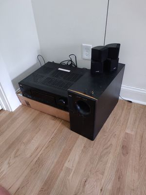 Bose speakers with subwoofer and jvc receiver for Sale in Bethesda, MD