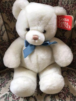 Gund stuffed white bear for Sale in Chelmsford, MA
