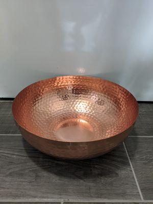 Round Metal Bowl - Copper Finish for Sale in Orange, CA