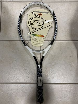 Tennis Racket Dunlop brand new never used needs to be strung to your custom specifications great racket light weight for Sale in Ridgefield Park, NJ