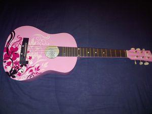 "Disney Washburn pink princess 30"" guitar pwga30 for Sale in Manchester, CT"