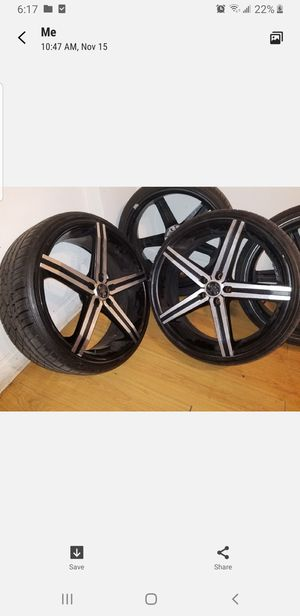 22'in VERSANTE' BLACK MACHINED RIMS for Sale in KNG OF PRUSSA, PA