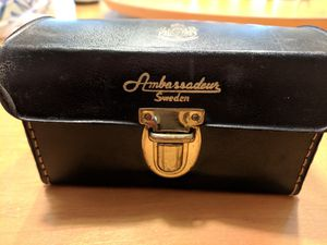Vintage fishing reel case made in Sweden for Sale in Plainfield, IL