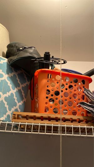 Storage bins, napkin holder,mini fan drying rack wooden for Sale in Herndon, VA