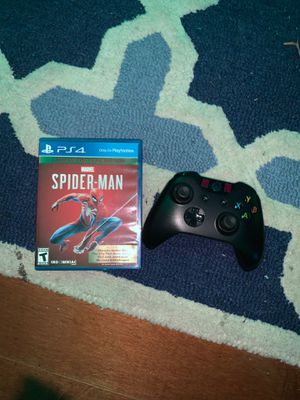 Xbox controller and spider man game of the year edition for Sale in West Hartford, CT