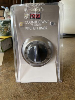 Oggi Countdown Stainless Steel 60-Minute Kitchen Timer for Sale in Fort Worth, TX