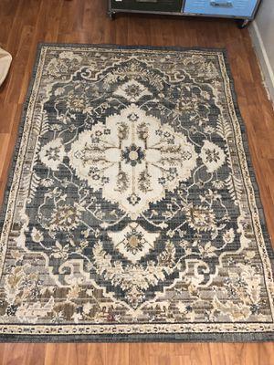 Medium sized green printed rug for Sale in Fairfax, VA