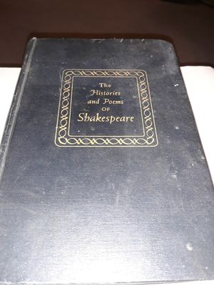 1153 pages 1955 THE HISTORIES AND POEMS OF SHAKESPEARE for Sale in San Bernardino, CA