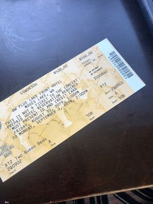 Dave Matthews Gorge 3 Day Hotel Package up for grabs! for Sale in Washougal, WA