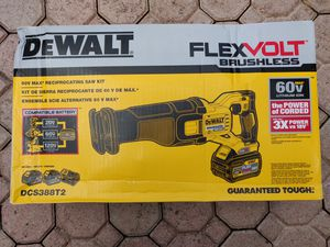 DeWalt DCS388T2 60V MAX FLEXVOLT recip saw kit for Sale in Boca Raton, FL