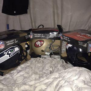 3 Helmet & Jersey Set !!! for Sale in Las Vegas, NV