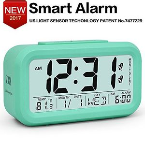 LCD Night Light Electronic Smart Digital Alarm Clock Temperature Date Display 0428 b30 06 for Sale in OH, US