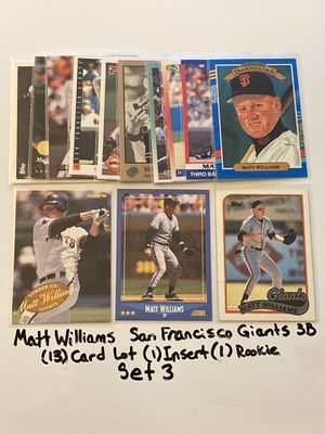 Matt Williams San Francisco Giants All Star 3rd Baseman (13) Card Lot (1) Insert (1) Rookie Card. Set 3. for Sale in San Jose, CA