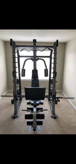 Gold's Gym Platinum Smith Machine (complete home gym) for Sale in Alexandria, VA